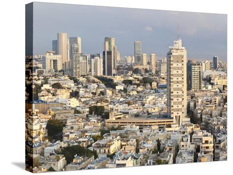 Elevated City View Towards the Commercial and Business Centre, Tel Aviv, Israel, Middle East-Gavin Hellier-Stretched Canvas Print