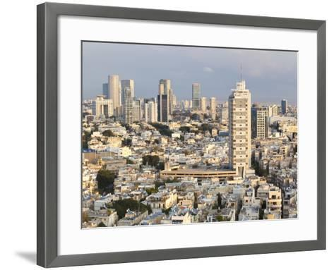 Elevated City View Towards the Commercial and Business Centre, Tel Aviv, Israel, Middle East-Gavin Hellier-Framed Art Print