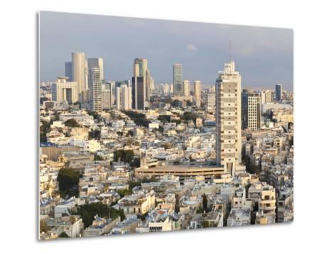 Elevated City View Towards the Commercial and Business Centre, Tel Aviv, Israel, Middle East-Gavin Hellier-Metal Print