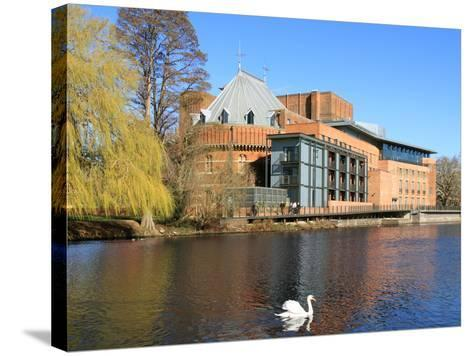 Royal Shakespeare Company Theatre and River Avon, Stratford-Upon-Avon, Warwickshire, England, UK-Rolf Richardson-Stretched Canvas Print