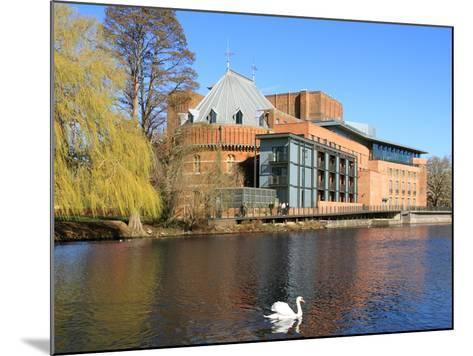 Royal Shakespeare Company Theatre and River Avon, Stratford-Upon-Avon, Warwickshire, England, UK-Rolf Richardson-Mounted Photographic Print