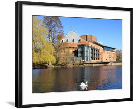 Royal Shakespeare Company Theatre and River Avon, Stratford-Upon-Avon, Warwickshire, England, UK-Rolf Richardson-Framed Art Print