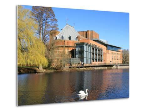 Royal Shakespeare Company Theatre and River Avon, Stratford-Upon-Avon, Warwickshire, England, UK-Rolf Richardson-Metal Print