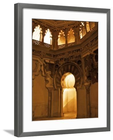 The Musallah, Private Oratory with Mihrab, Aljaferia Palace, Saragossa (Zaragoza), Spain-Guy Thouvenin-Framed Art Print