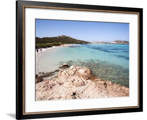 Madonna Mantle Between Islands of Santa Maria and Budelli, La Maddalena Nat'l Park, Sardinia, Italy-Oliviero Olivieri-Framed Art Print