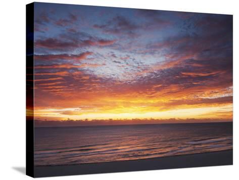 Sunrise over the Atlantic Ocean in Miami Beach, Florida, United States of America, North America-Angelo Cavalli-Stretched Canvas Print