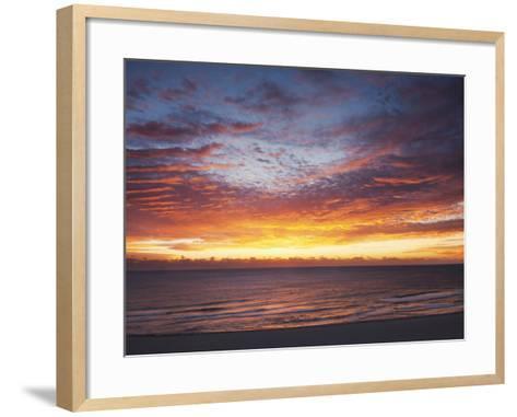 Sunrise over the Atlantic Ocean in Miami Beach, Florida, United States of America, North America-Angelo Cavalli-Framed Art Print