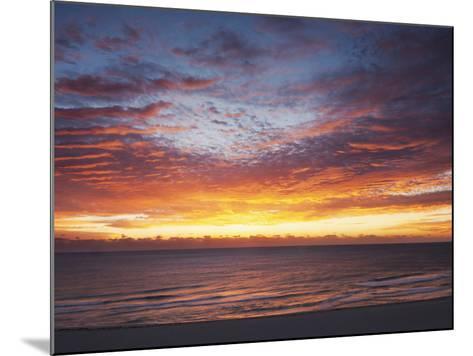Sunrise over the Atlantic Ocean in Miami Beach, Florida, United States of America, North America-Angelo Cavalli-Mounted Photographic Print