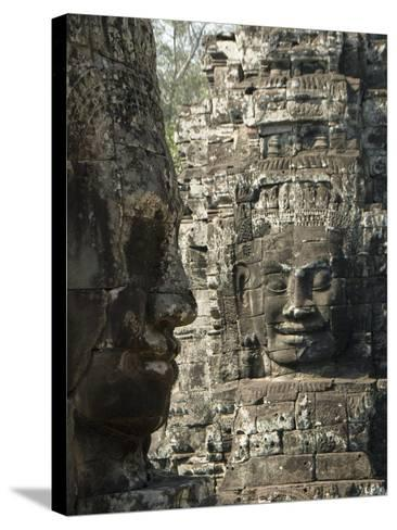 Bayon, Angkor Thom, Angkor Archaeological Park, UNESCO World Heritage Site, Siem Reap, Cambodia-Richard Maschmeyer-Stretched Canvas Print