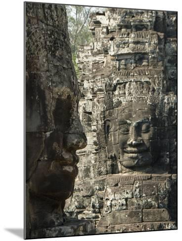 Bayon, Angkor Thom, Angkor Archaeological Park, UNESCO World Heritage Site, Siem Reap, Cambodia-Richard Maschmeyer-Mounted Photographic Print