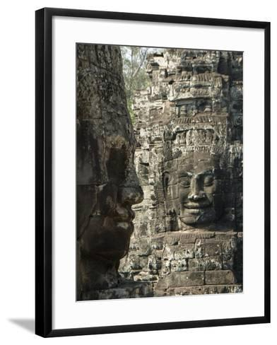 Bayon, Angkor Thom, Angkor Archaeological Park, UNESCO World Heritage Site, Siem Reap, Cambodia-Richard Maschmeyer-Framed Art Print