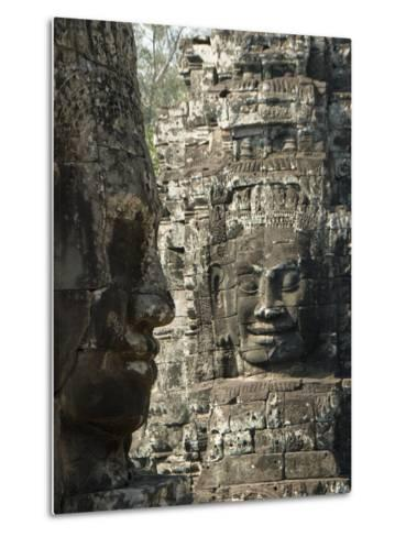 Bayon, Angkor Thom, Angkor Archaeological Park, UNESCO World Heritage Site, Siem Reap, Cambodia-Richard Maschmeyer-Metal Print