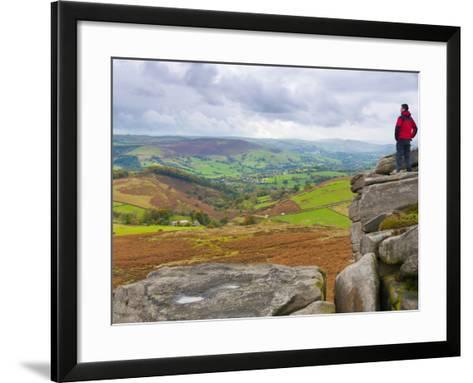 Higger Tor Towards Hathersage, Peak District National Park, Derbyshire, England-Alan Copson-Framed Art Print