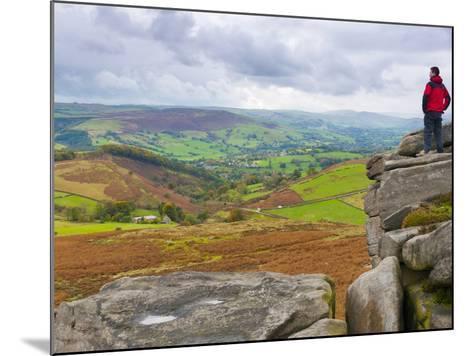 Higger Tor Towards Hathersage, Peak District National Park, Derbyshire, England-Alan Copson-Mounted Photographic Print