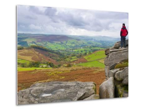 Higger Tor Towards Hathersage, Peak District National Park, Derbyshire, England-Alan Copson-Metal Print