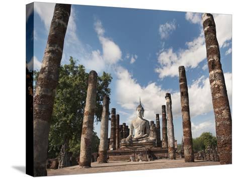 Wat Mahathat, Old Buddhist Temple, Sukhothai, UNESCO World Heritage Site, Thailand, Southeast Asia-Antonio Busiello-Stretched Canvas Print