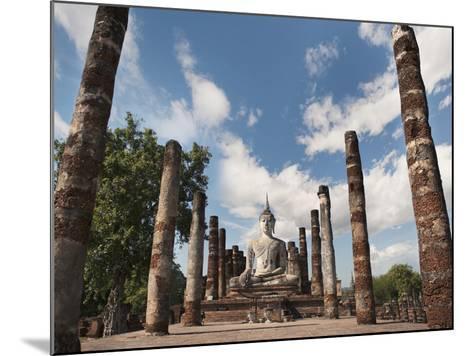Wat Mahathat, Old Buddhist Temple, Sukhothai, UNESCO World Heritage Site, Thailand, Southeast Asia-Antonio Busiello-Mounted Photographic Print