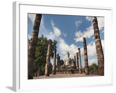 Wat Mahathat, Old Buddhist Temple, Sukhothai, UNESCO World Heritage Site, Thailand, Southeast Asia-Antonio Busiello-Framed Art Print