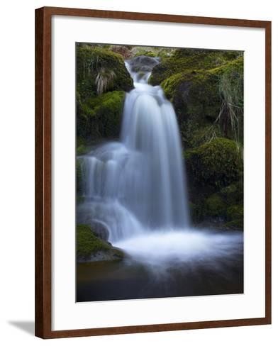 Waterfall, Glen Artney, Near Crieff, Perthshire, Scotland, United Kingdom, Europe-Jeremy Lightfoot-Framed Art Print