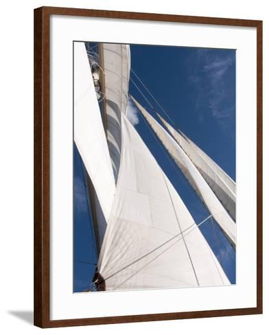 Star Clipper Sailing Cruise Ship, Deshaies, Basse-Terre, Guadeloupe, West Indies, French Caribbean-Sergio Pitamitz-Framed Art Print