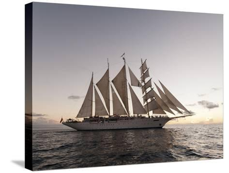Star Clipper Sailing Cruise Ship, Dominica, West Indies, Caribbean, Central America-Sergio Pitamitz-Stretched Canvas Print