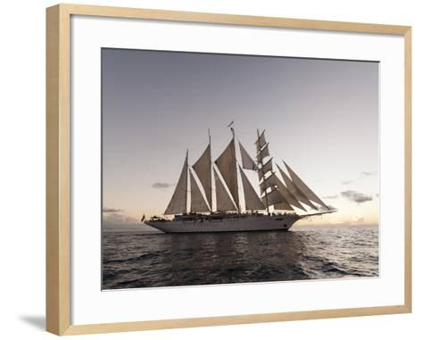 Star Clipper Sailing Cruise Ship, Dominica, West Indies, Caribbean, Central America-Sergio Pitamitz-Framed Art Print