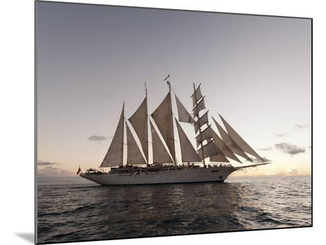 Star Clipper Sailing Cruise Ship, Dominica, West Indies, Caribbean, Central America-Sergio Pitamitz-Mounted Photographic Print