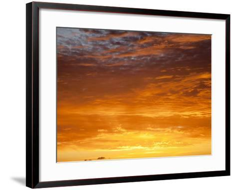 Red Sky at Sunrise over Atlantic Ocean, View from Miami Beach, Florida, USA, North America-Angelo Cavalli-Framed Art Print