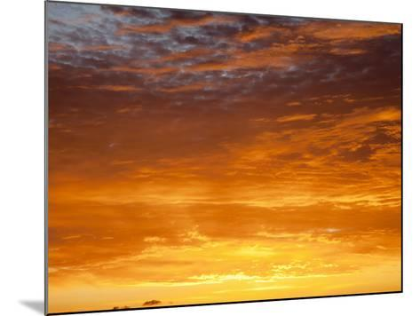 Red Sky at Sunrise over Atlantic Ocean, View from Miami Beach, Florida, USA, North America-Angelo Cavalli-Mounted Photographic Print