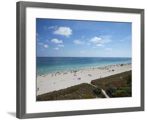 South Beach, Miami Beach, Florida, United States of America, North America-Angelo Cavalli-Framed Art Print