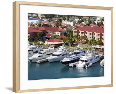 Yacht Haven Grande Marina, Charlotte Amalie, St. Thomas Island, U.S. Virgin Islands, West Indies-Richard Cummins-Framed Art Print