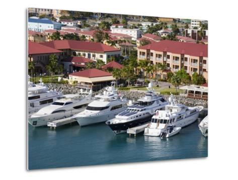 Yacht Haven Grande Marina, Charlotte Amalie, St. Thomas Island, U.S. Virgin Islands, West Indies-Richard Cummins-Metal Print