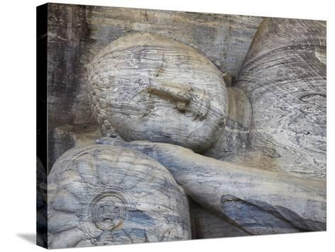 Reclining Buddha Statue, Gal Vihara, Polonnaruwa, UNESCO World Heritage Site, Sri Lanka-Ian Trower-Stretched Canvas Print