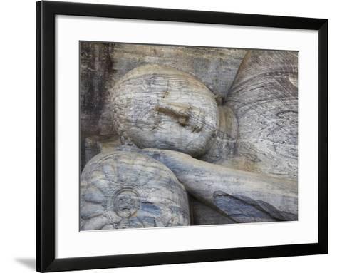 Reclining Buddha Statue, Gal Vihara, Polonnaruwa, UNESCO World Heritage Site, Sri Lanka-Ian Trower-Framed Art Print
