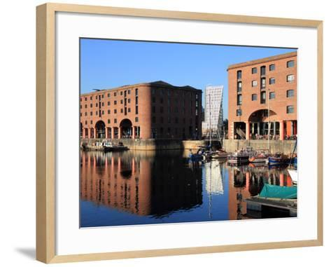 Albert Dock, Liverpool, Merseyside, England, United Kingdom, Europe-Rolf Richardson-Framed Art Print