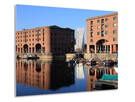 Albert Dock, Liverpool, Merseyside, England, United Kingdom, Europe-Rolf Richardson-Metal Print