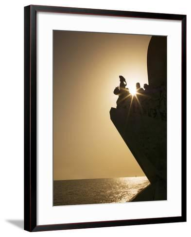 Monument to Discoveries, Belem, Lisbon, Portugal, Europe-Angelo Cavalli-Framed Art Print