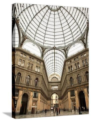 Low Angle View of the Interior of the Galleria Umberto I, Naples, Campania, Italy, Europe-Vincenzo Lombardo-Stretched Canvas Print