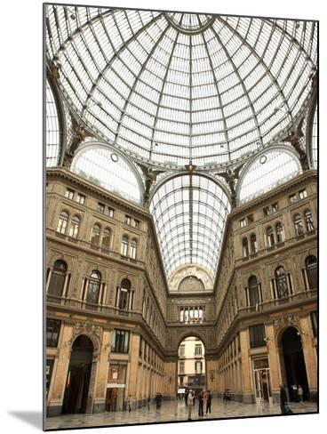 Low Angle View of the Interior of the Galleria Umberto I, Naples, Campania, Italy, Europe-Vincenzo Lombardo-Mounted Photographic Print