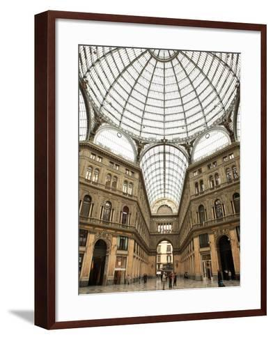 Low Angle View of the Interior of the Galleria Umberto I, Naples, Campania, Italy, Europe-Vincenzo Lombardo-Framed Art Print