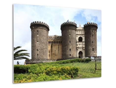 Maschio Angioino Castle (Castel Nuovo), Naples, Campania, Italy, Europe-Vincenzo Lombardo-Metal Print