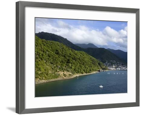 Queen Charlotte Sound, Picton, South Island, New Zealand, Pacific-Richard Cummins-Framed Art Print