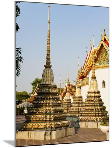 Colourful Stupa at Temple of the Reclining Buddha (Wat Pho), Bangkok, Thailand, Southeast Asia-Matthew Williams-Ellis-Mounted Photographic Print