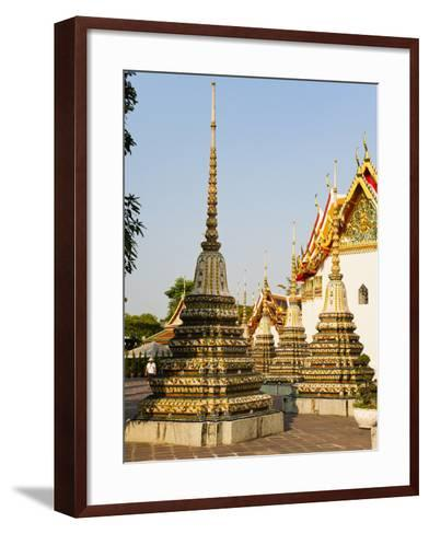 Colourful Stupa at Temple of the Reclining Buddha (Wat Pho), Bangkok, Thailand, Southeast Asia-Matthew Williams-Ellis-Framed Art Print
