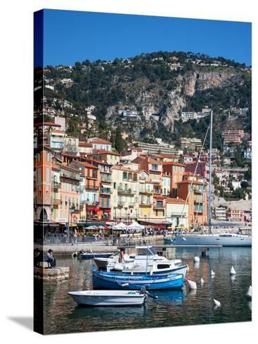 Colourful Buildings, Villefranche, Alpes-Maritimes, Provence-Alpes-Cote D'Azur, French Riviera-Adina Tovy-Stretched Canvas Print
