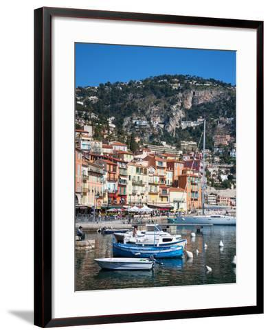 Colourful Buildings, Villefranche, Alpes-Maritimes, Provence-Alpes-Cote D'Azur, French Riviera-Adina Tovy-Framed Art Print