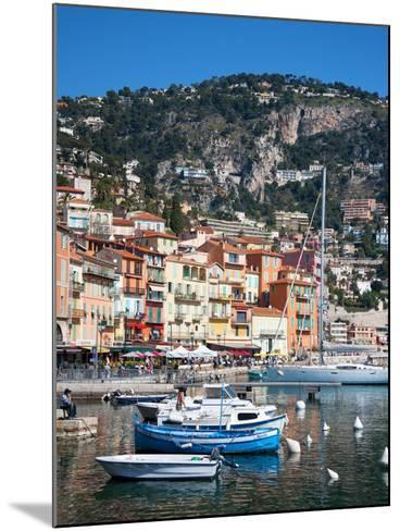 Colourful Buildings, Villefranche, Alpes-Maritimes, Provence-Alpes-Cote D'Azur, French Riviera-Adina Tovy-Mounted Photographic Print