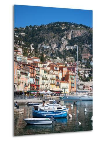 Colourful Buildings, Villefranche, Alpes-Maritimes, Provence-Alpes-Cote D'Azur, French Riviera-Adina Tovy-Metal Print