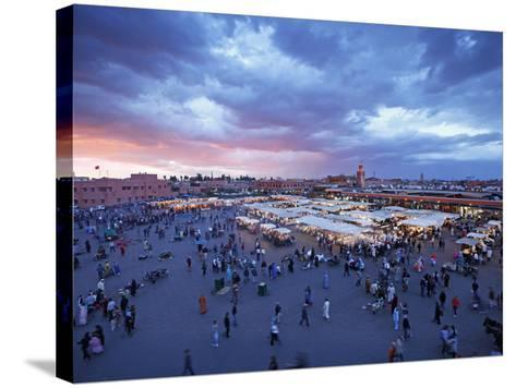 Elevated View over the DJemaa el Fna, Marrakech (Marrakesh), Morocco, North Africa, Africa, Africa-Gavin Hellier-Stretched Canvas Print