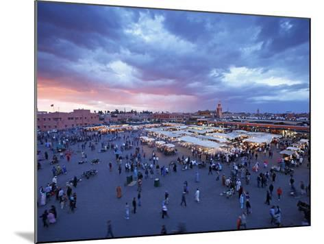 Elevated View over the DJemaa el Fna, Marrakech (Marrakesh), Morocco, North Africa, Africa, Africa-Gavin Hellier-Mounted Photographic Print